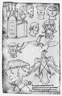 Ms Fr 19093 fol.18v Various drawings