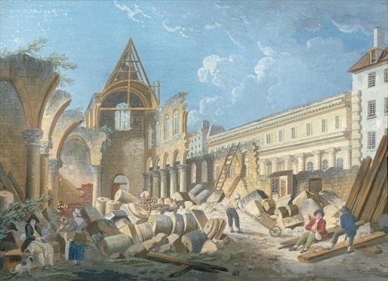 Demolition of the Couvent des Cordeliers, c.1802