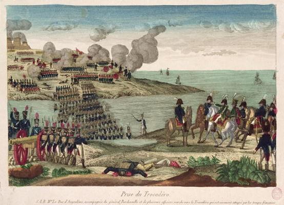 Siege of Trocadero by Louis-Antoine de France