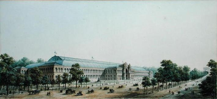Perspective View of the Palais de l'Industrie, 1854