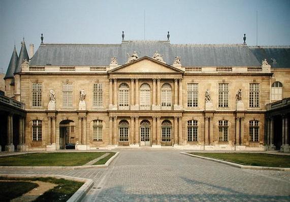 Facade of the Hotel de Soubise, built 1705-09
