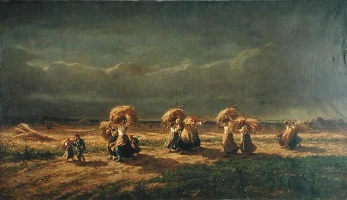 Gleaners at Chambaudoin, 1857