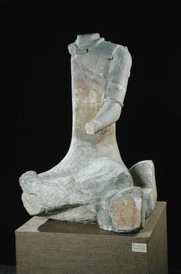 Seated man, from Roquepertuse, Tene II, c.300-120 BC