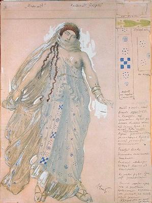 Phaedra, Costume design for the Euripides' drama 'Hippolytos', 1902