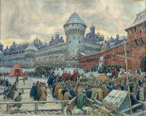 Ancient Moscow, departure after a fight