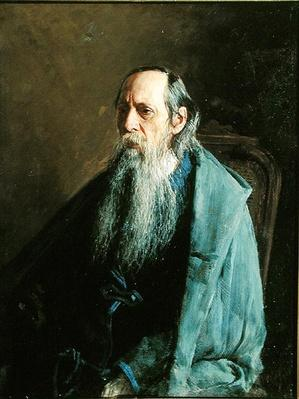 Portrait of the author Michail Saltykov-Shchedrin