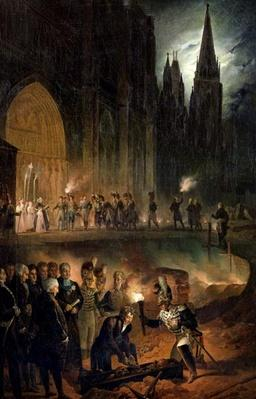 Transferring the Bones of the Royal Family to the Church of St. Denis, 18th January 1817