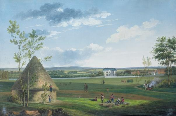 The Chateau d'Etry and the Park Occupied by Cossacks in 1814