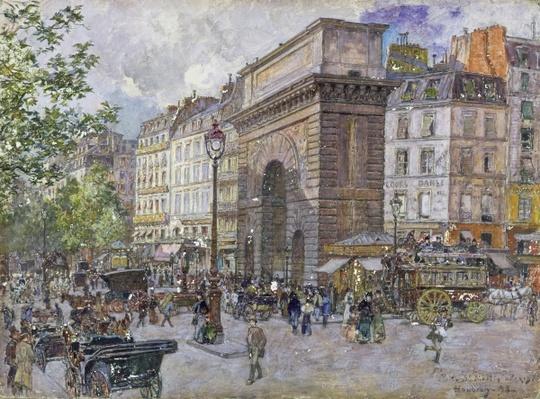 The Porte Saint-Martin, 1898