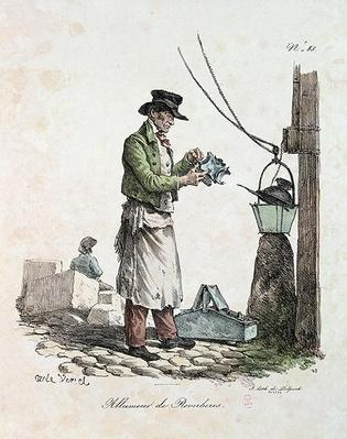 The Lamplighter, engraved by Francois Seraphin Delpech