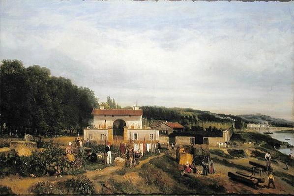 Entrance to the Village of Sevres, 1834