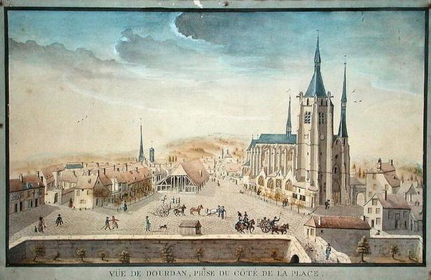 View of Dourdan by a Prisoner, c.1800