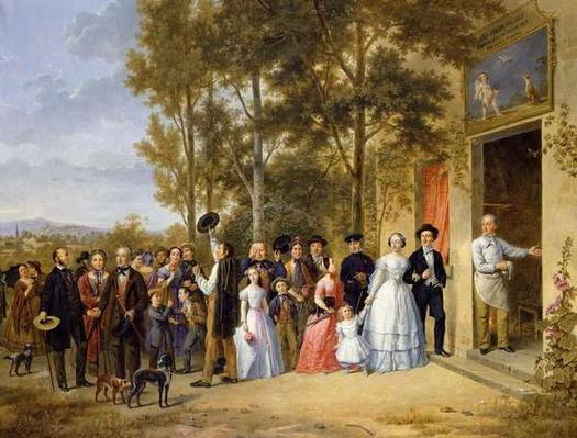 A Wedding at the Coeur Volant, Louveciennes, c.1850