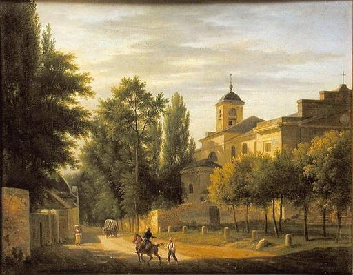 View of the Church of Ville d'Avray in c.1820