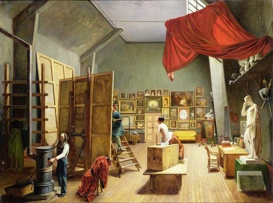 Interior of the Studio of Abel de Pujol