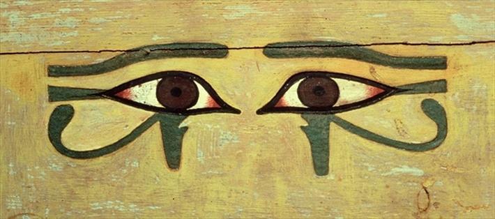 Udjat Eyes on a Coffin, Middle Kingdom