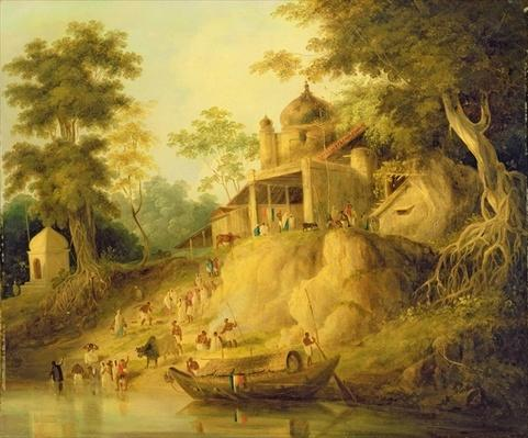 The Banks of the Ganges, c.1820-30