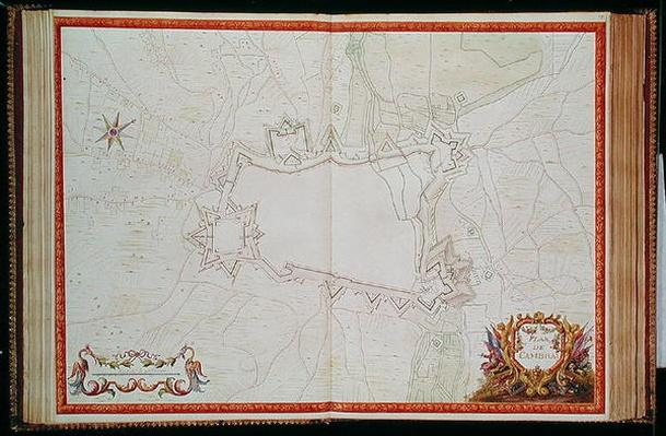 Ms. 986, Vol.1 Plan and Map of Cambrai, from the 'Atlas Louis XIV', 1683-88