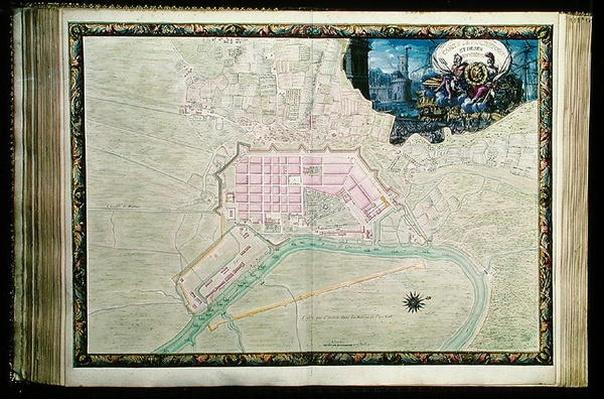 Ms. 988, Vol.3 fol.38 Plan of Rochefort and its surroundings, from the 'Atlas Louis XIV', 1683-88