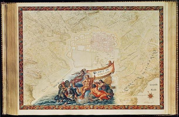 Ms. 987, Vol.2 fol.63 Plan of Toulon, from the 'Atlas Louis XIV', 1683-88