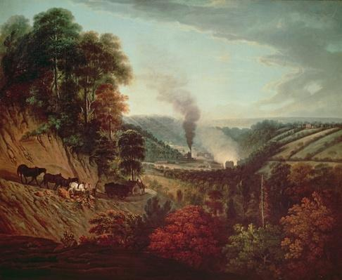 Morning view of Coalbrookdale, 1777