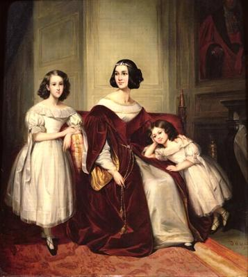 Madame de Nonjon and her Two Daughters, 1839