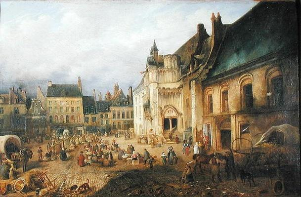 View of the Place de l'Hotel de Ville, Saint-Omer, 1832