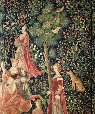 La Vie Seigneuriale: Young women and a fox, c.1500