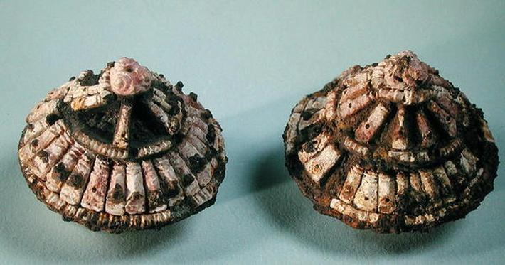 Bosses from a horse's bit, from Chalons-sur-Marne, Tene I