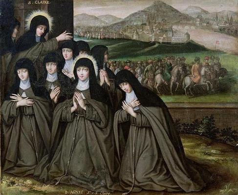 St. Claire with her Sister, Agnes and Nuns