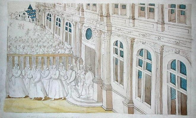 Procession of Queen Louise de Lorraine-Vaudemont