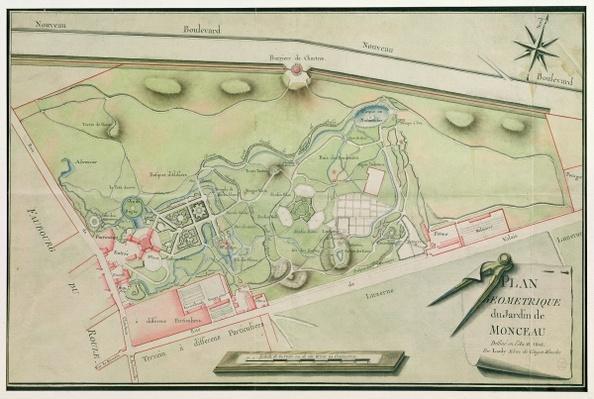 Plan of the Parc Monceau, 1803