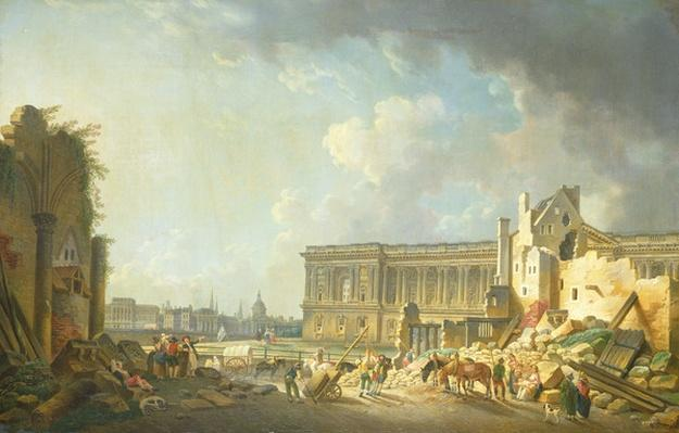 Clearing the Colonnade of the Louvre, 1764