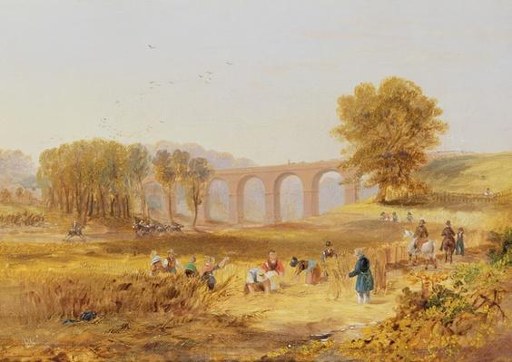 Corby Viaduct, the Newcastle and Carlisle Railway, 1836