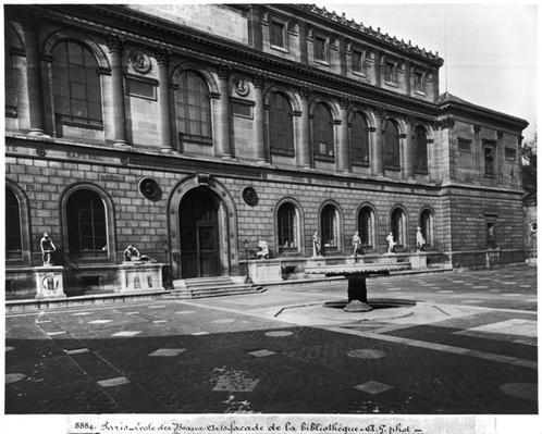 Facade of the library of the Ecole Nationale Superieure des Beaux-Arts, Palais des Etudes, c.1890-99