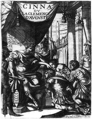 Frontispiece of 'Cinna ou la Clemence d'Auguste' by Pierre Corneille