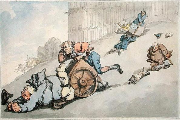 The Circus Hill, Matthew Bramble's Overturn, from 'Scenes at Bath'