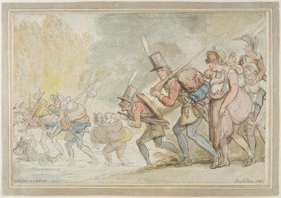 Soldiers on a March, 1805