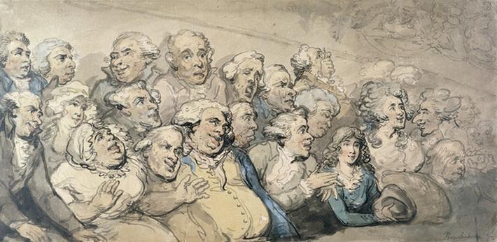 An Audience at Drury Lane Theatre