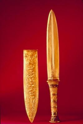 Dagger and sheath, from the Tomb of Tutankhamun
