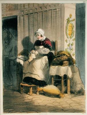 The Oyster Seller, from 'Les Femmes de Paris', 1841-42