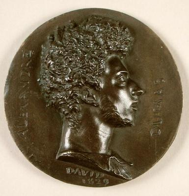 Medallion portrait of Alexandre Dumas Pere