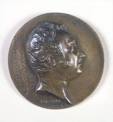 Medallion portrait of Gioacchino Rossini