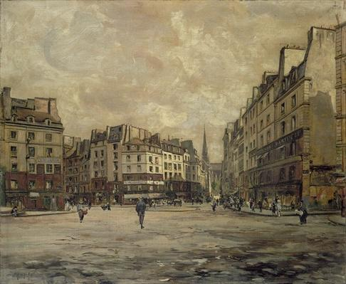 Place Maubert, Paris, 1888