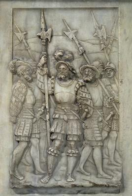Halberdiers, detail from the Tomb of Francois I and Claude de France, commissioned in 1548