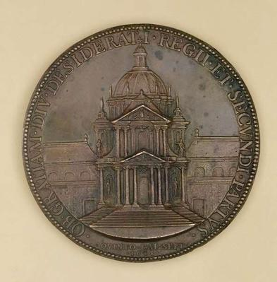 Foundation medal of Val-de-Grace, recto depicting Val-de-Grace, 1638