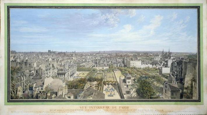 Panoramic View of Paris Towards the North, 1786
