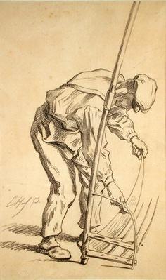 Reaper Sharpening his Scythe, 1859