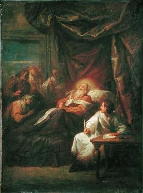 The Death of St. Ambrose, before 1706