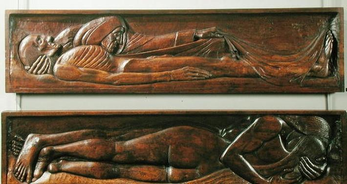Death, wooden bed panel, 1894-96